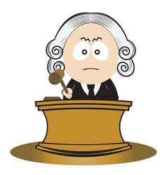 Judge using his gavel vector