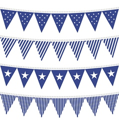 July 4th american textures vector