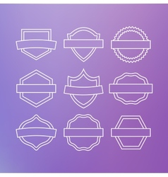 Linear emblems vector image
