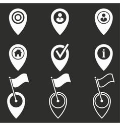 Map pin icon set vector