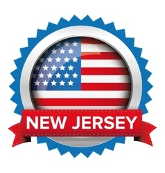 New jersey and usa flag badge vector
