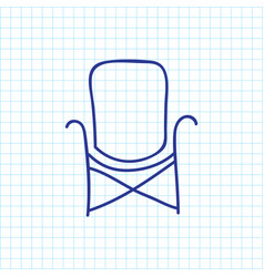 Of camping symbol on chair vector