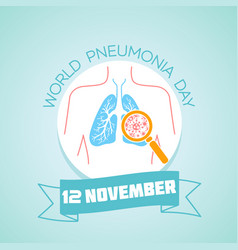 pneumonia day 12 november vector image vector image