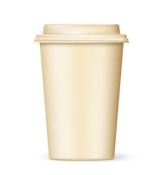 Retro coffee cup to go vector