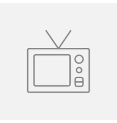Retro television line icon vector