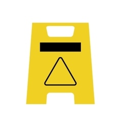 Road sign industrial security icon vector