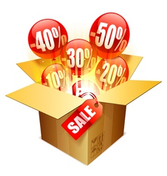 Sale box vector image vector image