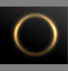 sparkle glitter circle round shape frame glow vector image