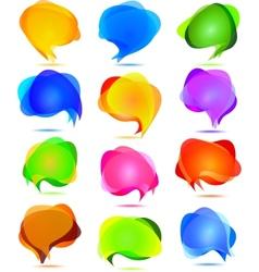 transparent bubbles for speech vector image