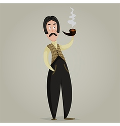 Gentleman with pipe vector