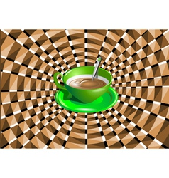 Optical with a green cup vector