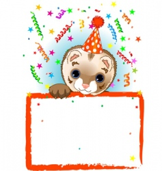 Polecat birthday vector