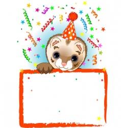 polecat birthday vector image