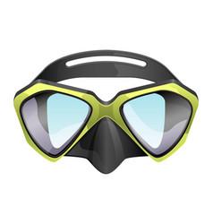 Professional diving mask snorkeling vector
