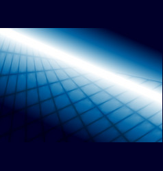 Abstract bright blue squares tech perspective vector