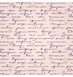 Seamless abstract handwritten text pattern vector image