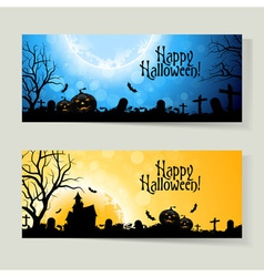 Set of Halloween Banners vector image