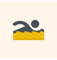 Swimmer travel flat icon vector
