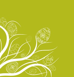 Easter eggs ornament doodle background vector