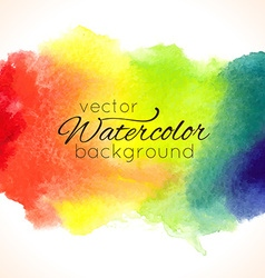 Watercolor hand painted rainbow background vector