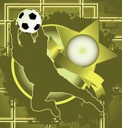 soccer vintage design vector image