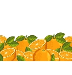 Orange composition isolated vector