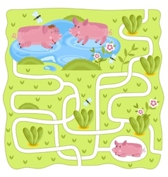 Maze logic game for kids vector