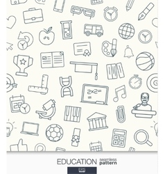 Education wallpaper Black and white school or vector image
