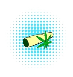 Marijuana joint icon comics style vector