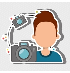 User photo camera design vector