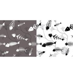 Fish skeleton seamless vector image
