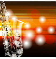 abstract grunge piano background with saxophone vector image