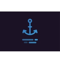 Anchor logo icon vector
