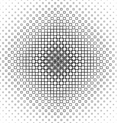 Black and white abstract square pattern background vector