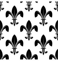 Black and white seamles fleur de lys pattern vector