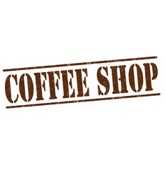 Coffee shop stamp vector