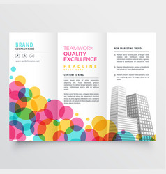 Colorful tri fold brochure design made with vector