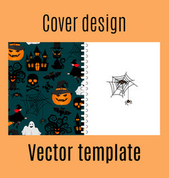 Cover design with halloween decorative pattern vector