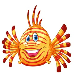 Cute fish with happy face vector image vector image