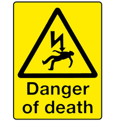 danger of death vector image vector image