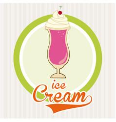 Dessert design over white background vector