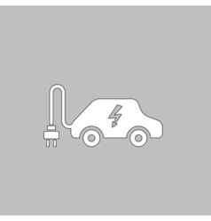 Electric car computer symbol vector image