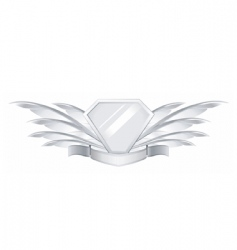 Feather shield vector