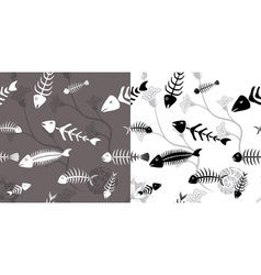 Fish skeleton seamless vector image vector image