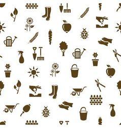 Garden seamless pattern vector
