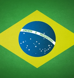 Grunge Flag Of Brazil vector image
