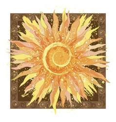 Hand drawn of sun vector image