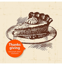 Hand drawn vintage Thanksgiving Day sketch vector image vector image
