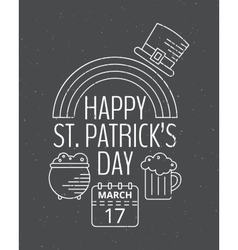 Happy st patricks day grunge vintage poster vector