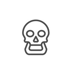 human skull line icon vector image